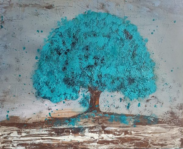 arbre turquoise
