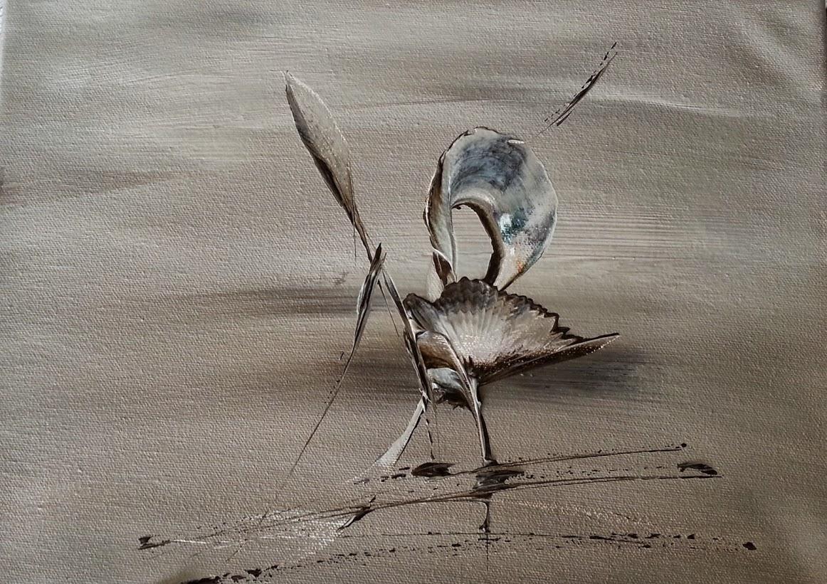 tableau de gauchepatte intitulé le cygne