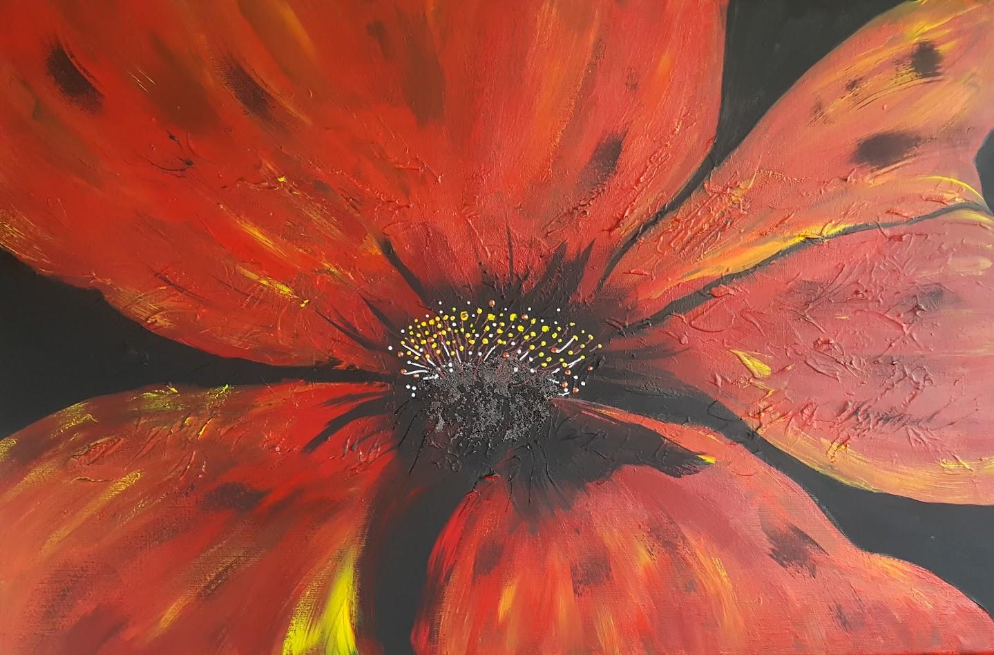 tableau de gauchepatte intitulé red flowers