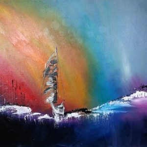 tableau de gauchepatte intitulé rainbow voile