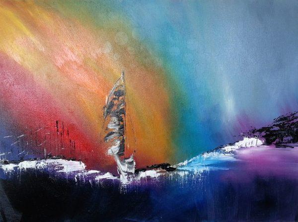 rainbow-voile