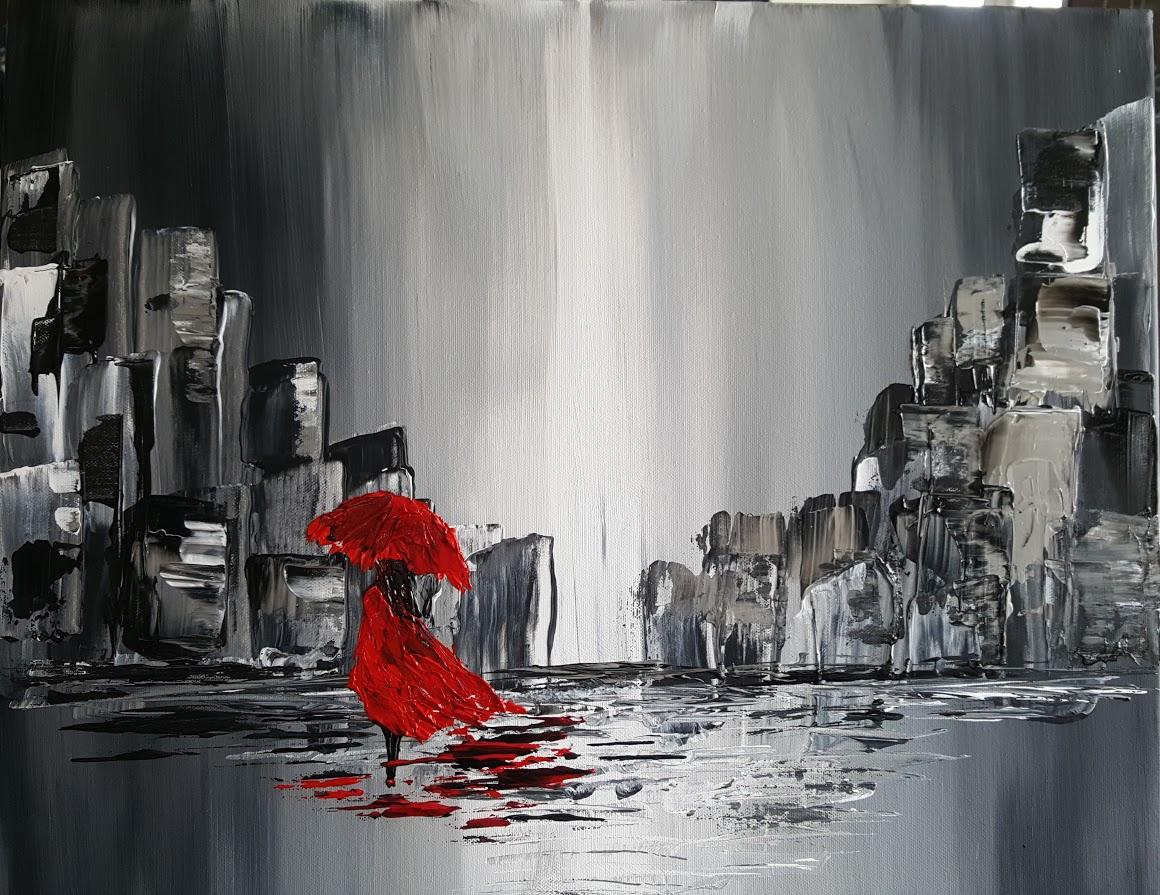 tableau de gauchepatte intitulé red girl
