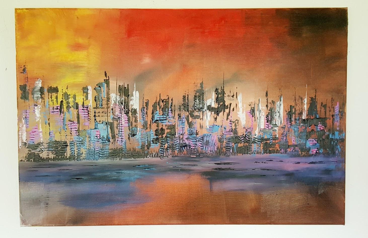 tableau de gauchepatte intitulé urban oil