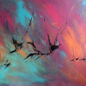 tableau de gauchepatte intitulé colibri