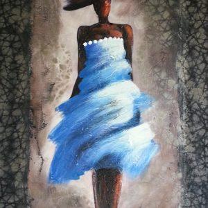 tableau de gauchepatte intitulé madame blue
