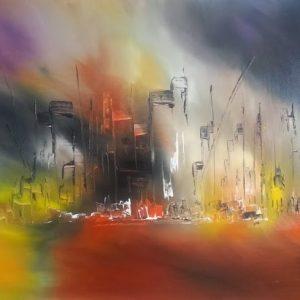 tableau de gauchepatte intitulé abstract city