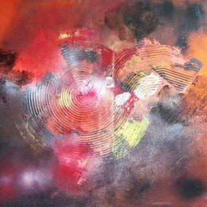 tableau de gauchepatte intitulé abstract orange