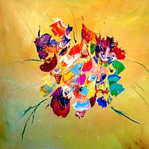 tableau de gauchepatte intitulé bouquet de printemps