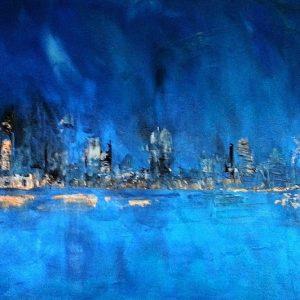 tableau de gauchepatte intitulé city by night