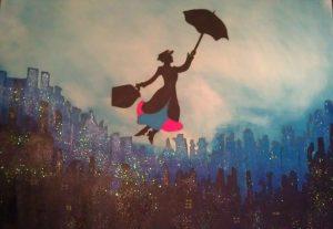 tableau de gauchepatte intitulé mary poppins