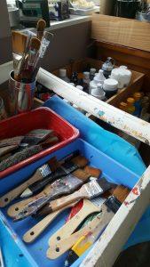 Pinceaux de l'atelier de gauchepatte