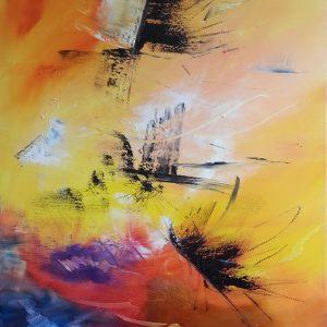 tableau de gauchepatte intitulé sun painting