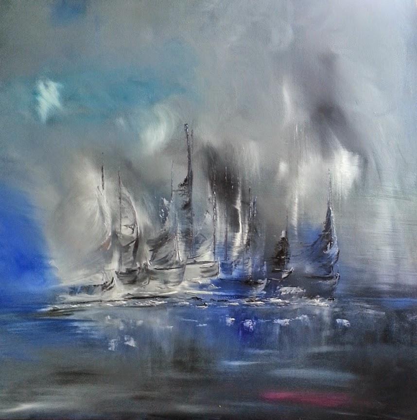 tableau de gauchepatte intitulé voiles en mer