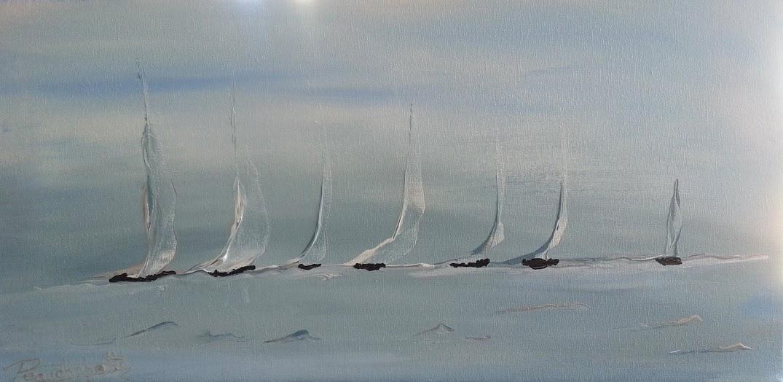 tableau de gauchepatte intitulé voiliers