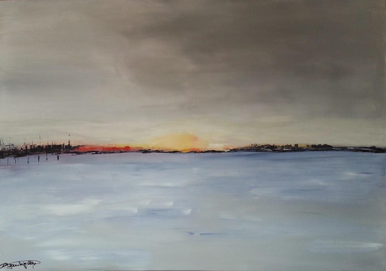 """tableau de gauchepatte intitulé """"horizon"""""""