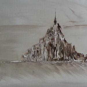 """tableau de gauchepatte intitulé """"mont st michel"""""""