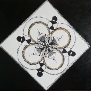 """tableau de gauchepatte intitulé """"acrylic géométrie"""