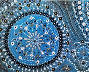 """tableau de gauchepatte intitulé """"perle bleue"""""""