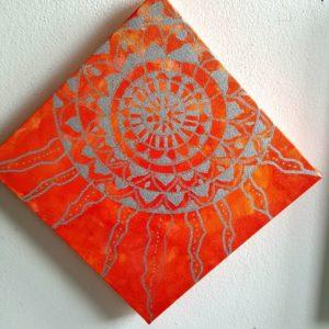 """tableau de gauchepatte intitulé""""soleil orange"""""""