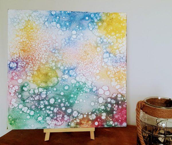 fines bulles de couleur